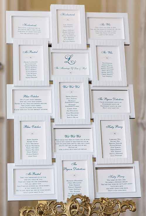 Brambles Wedding Stationery - Table Plans Multi-Aperture Frames