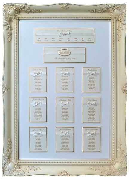 Frame Table Plans Framed Wedding Table Plans uk