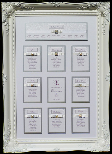 brambles wedding stationery table plans bow designs