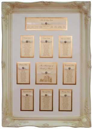 Brambles Wedding Stationery Table Plans Framed Designs